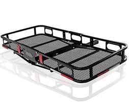 OxGord Universal Auto Steel Rear Hitch Mount Carrier Basket