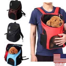 US Outdoor Double Shoulder Bag Backpack Pet Travel Dog Cat C