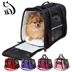 US Small Cat/Dog Pet Carrier Soft Sided Comfort Bag Travel C