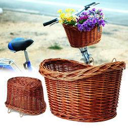 Wicker Dog Basket for Bikes Cat <font><b>Carrier</b></font>
