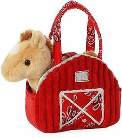 Aurora World Fancy Pals Pet Carrier Red Barn with Palomino H