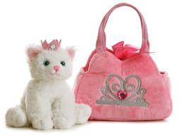 World Fancy Pals Plush Princess Kitten Purse Pet Carrier One