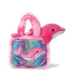 Aurora World Pet Carrier Plush Toy Animal, Fancy Pals Dolphi