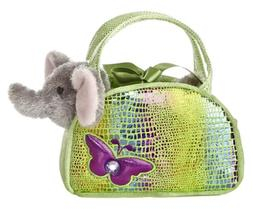 Aurora World Shimmery Fancy Pals Green Plush Toy Pet Carrier